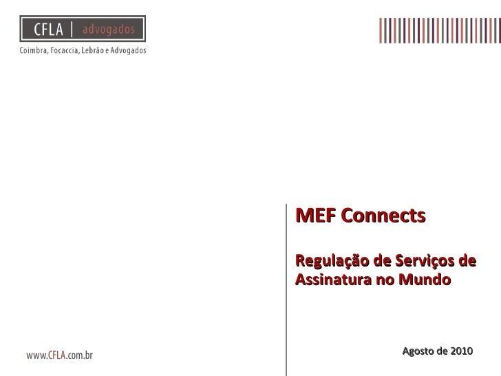 MEF LATAM/ CFLA - Regras Internacionais de SVA