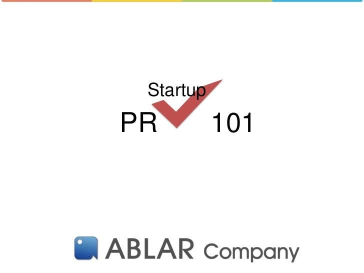 StartupPR         101