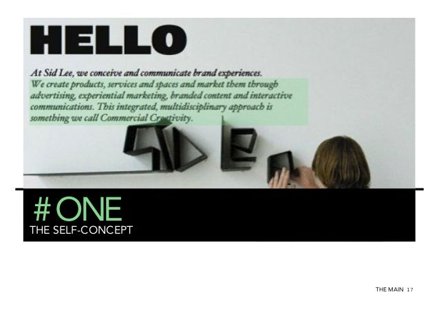 # ONE  THE SELF-CONCEPT  THE MAIN 17