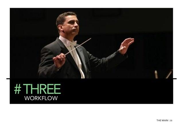 # THREE WORKFLOW THE MAIN 28