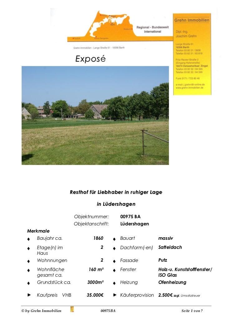 Expos é                          Resthof für Liebhaber in ruhiger Lage                                        in Lüdershag...