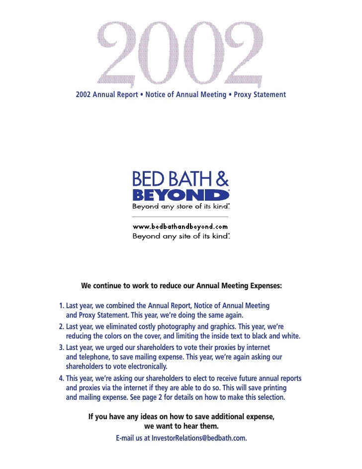 2002 Annual Report • Notice of Annual Meeting • Proxy Statement            We continue to work to reduce our Annual Meetin...