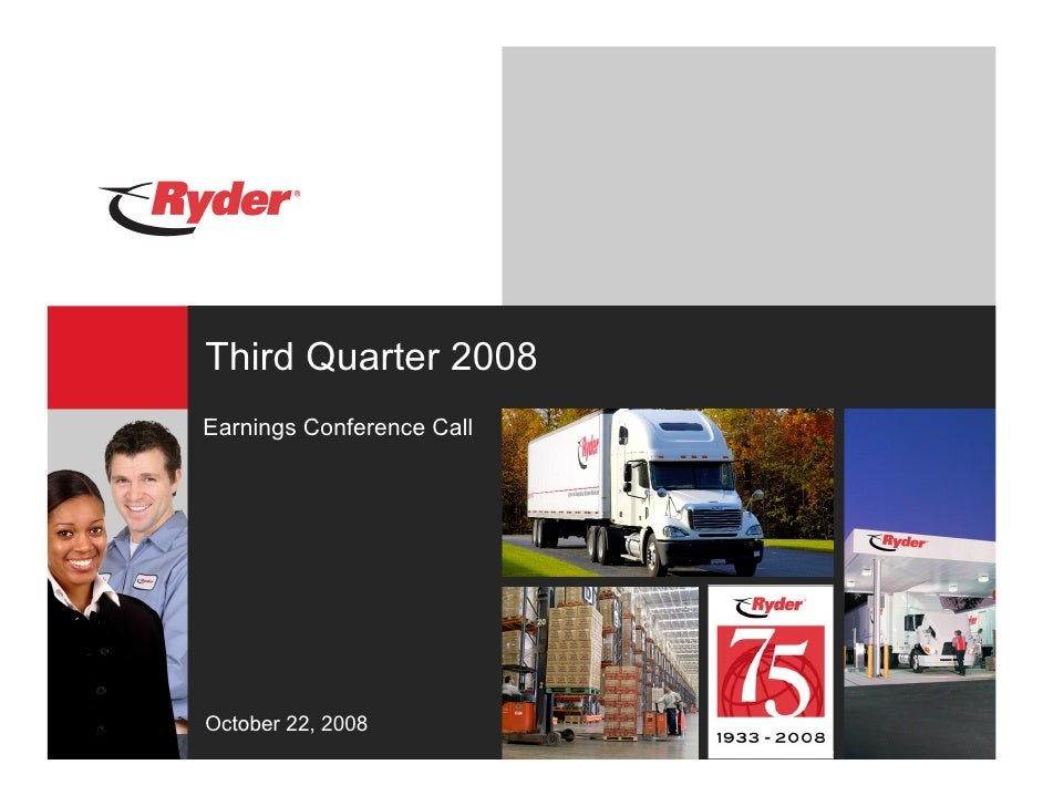 Third Quarter 2008 Earnings Conference Call     October 22, 2008