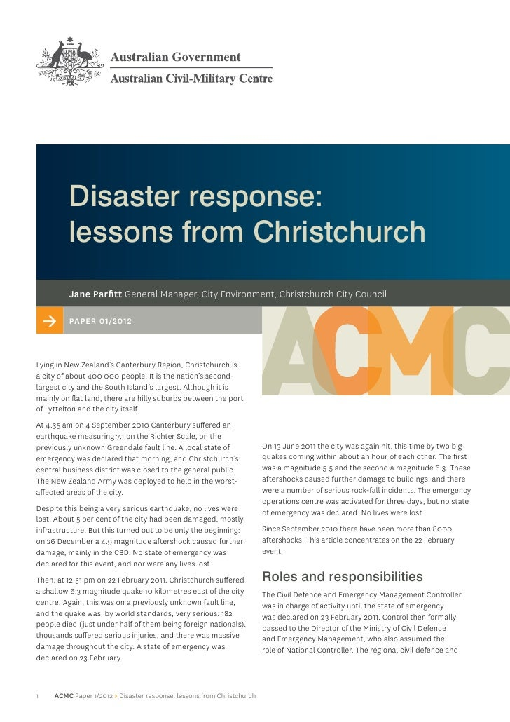 disaster response solutions essay Sources of information during a natural disaster essay  1311 introduction to  tourism and hospitality management the impacts of natural disasters and on  the.