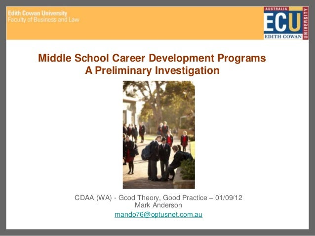 cdaa ecu career development research topics
