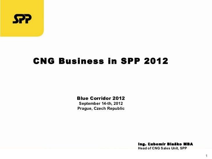 CNG Business in SPP 2012       Blue Corridor 2012        September 14-th, 2012       Prague, Czech Republic               ...