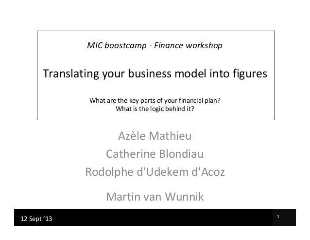 Xavier Corman | Martin van Wunnik 107/02/2012 Xavier Corman | Martin van Wunnik 117/04/2012 MIC boostcamp - Finance worksh...
