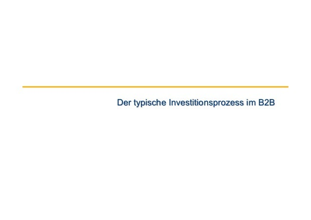 Der typische Investitionsprozess im B2B