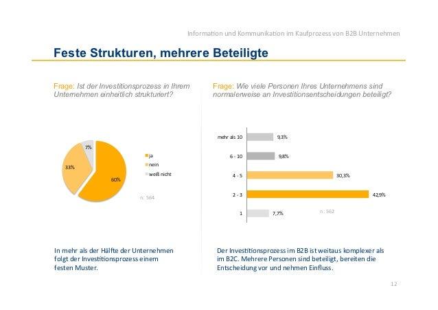 Informa)on und Kommunika)on im Kaufprozess von B2B Unternehmen Feste Strukturen, mehrere BeteiligteFrage: ...