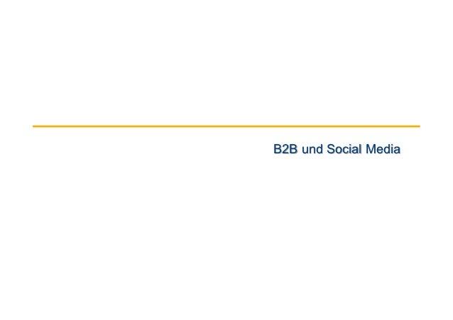 B2B und Social Media