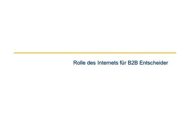 Rolle des Internets für B2B Entscheider