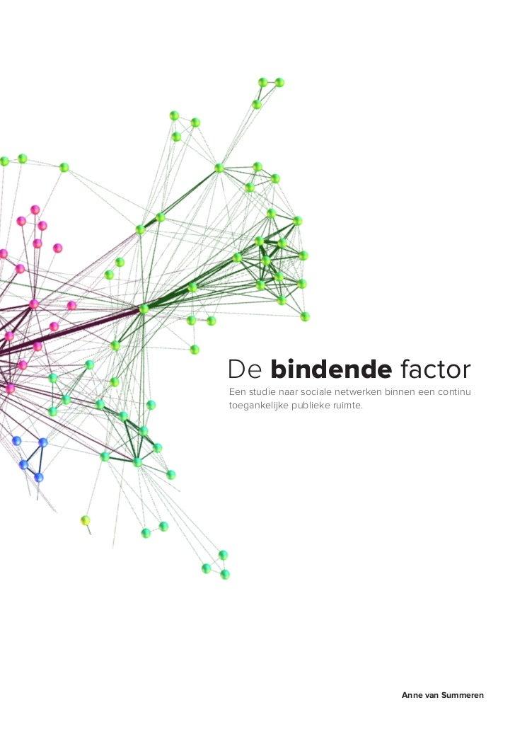De bindende factorEen studie naar sociale netwerken binnen een continutoegankelijke publieke ruimte.                      ...