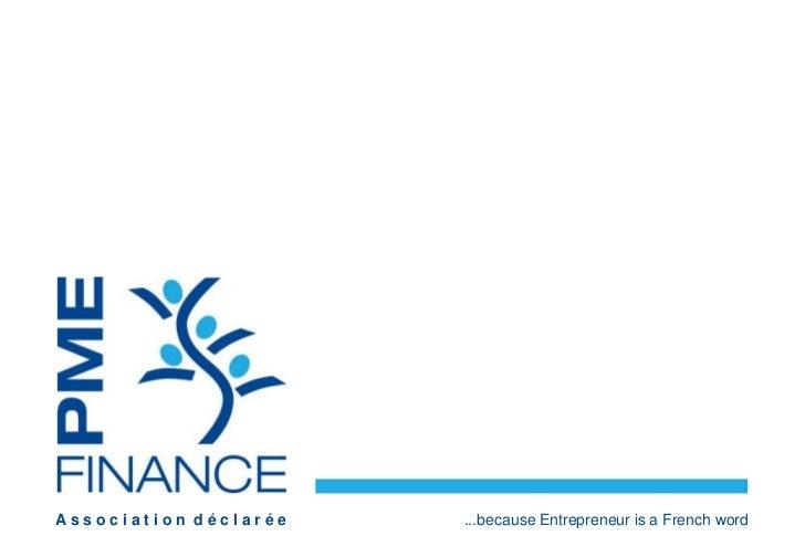 Association déclarée   ...because Entrepreneur is a French word