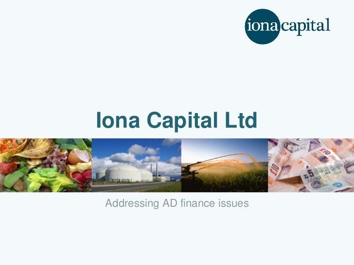 Iona Capital LtdAddressing AD finance issues