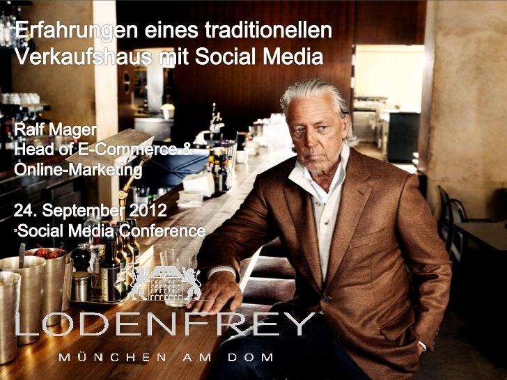 1 | 4. April 2012 l Ralf Mager l