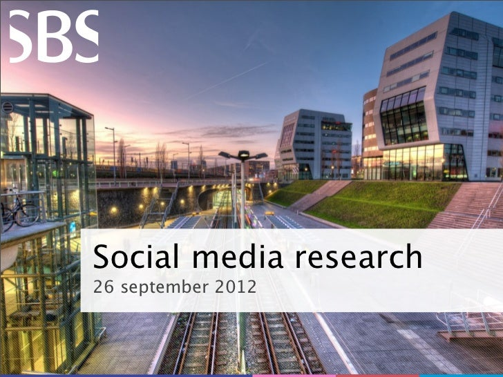 Social media research26 september 2012                1