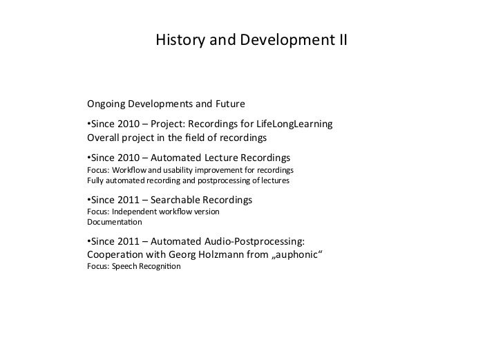 Automated Podcasting System for Universities Slide 3
