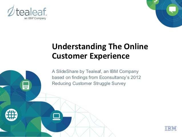 Understanding	  The	  Online	                                	  Customer	  Experience	  A SlideShare by Tealeaf, an IBM Co...