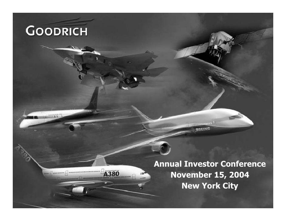 Annual Investor Conference        November 15, 2004           New York City 1