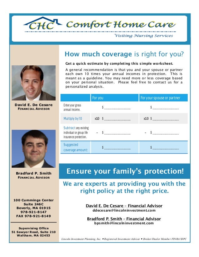 2014-07-09 Comfort Home Care flyer