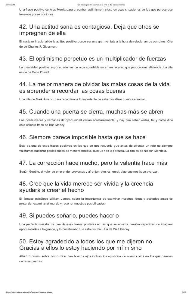 120 Frases Positivas Cortas Para Vivir Tu Día Con Optimismo