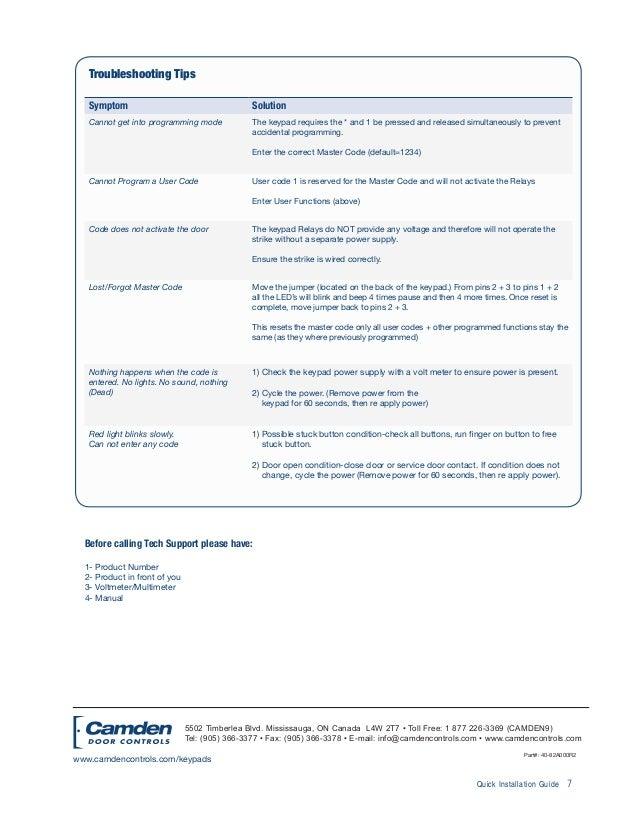 Camden 120i Instruction Manual