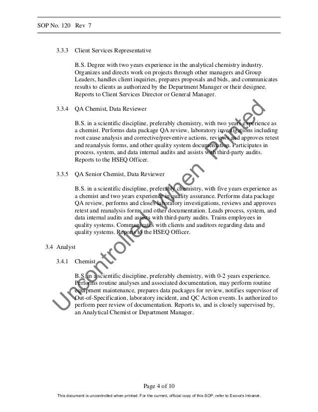 analytical chemist cover letter
