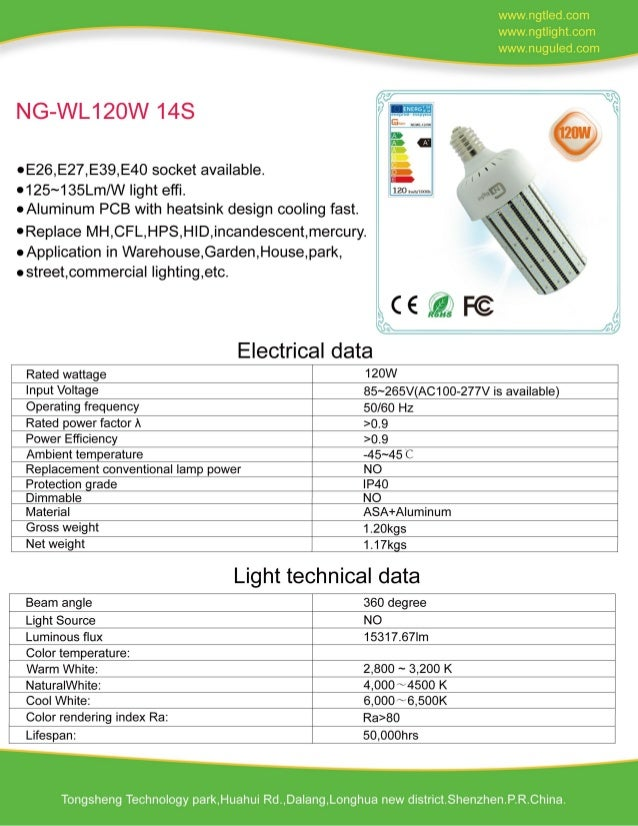 120W LED Corn Light request for quotation