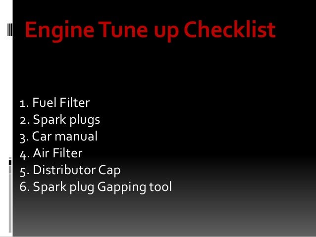 engine tune  procedure