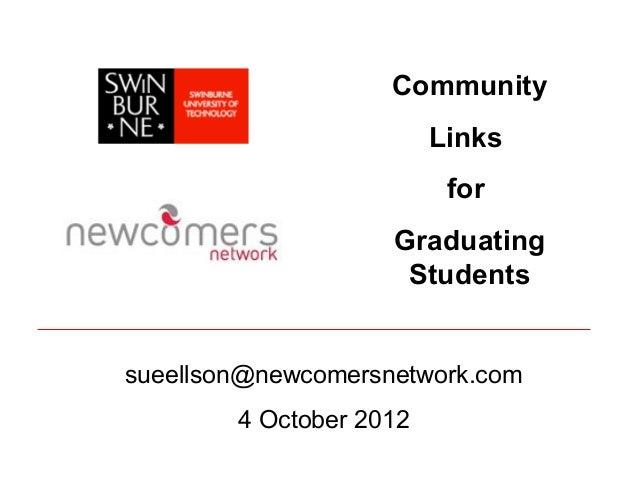 Community                         Links                          for                    Graduating                     Stu...