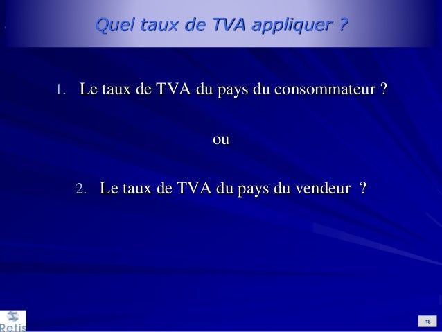 e commerce application de la tva intracommunautaire