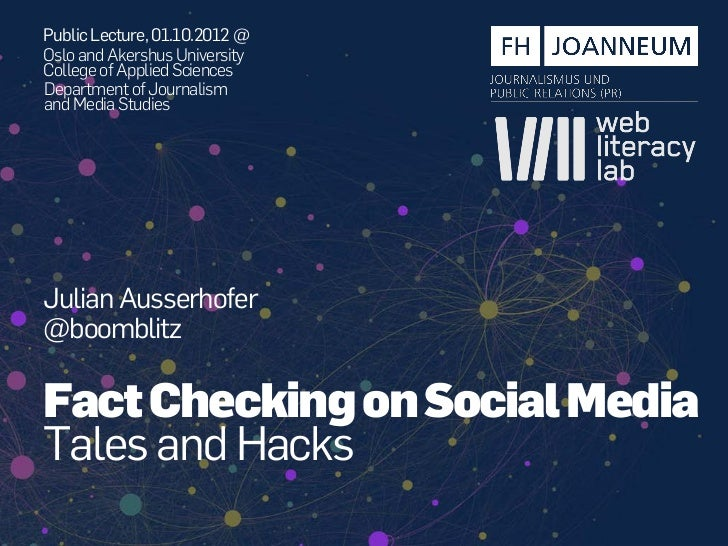 Public Lecture, 01.10.2012 @Oslo and Akershus UniversityCollege of Applied SciencesDepartment of Journalismand Media Studi...