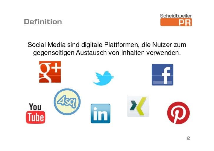 Social Media - Vortrag Slide 2