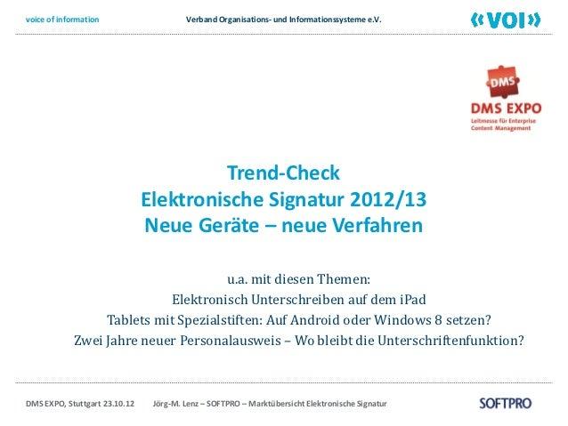 voice of information                    Verband Organisations- und Informationssysteme e.V.                               ...