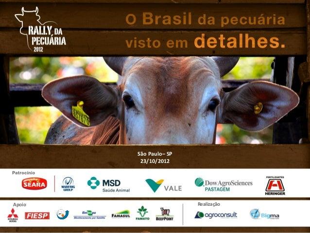 São Paulo– SP         23/10/2012Apoio                   Realização