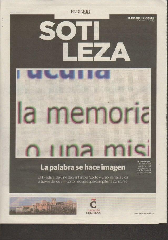 Impreso por Rafael Gutiérrez Rodríguez. Prohibida su reproducción.         EL MUNDO CANTABRIA. VIERNES 26 DE OCTUBRE DE 20...