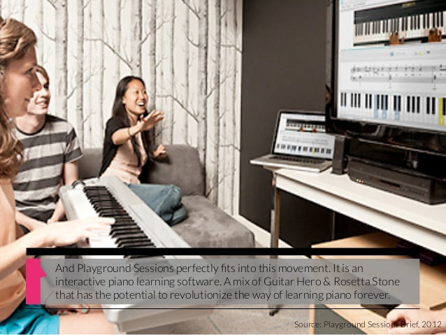 And Playground Sessions perfectly fits into this movement. It is aninteractive piano learning software. A mix of Guitar Her...