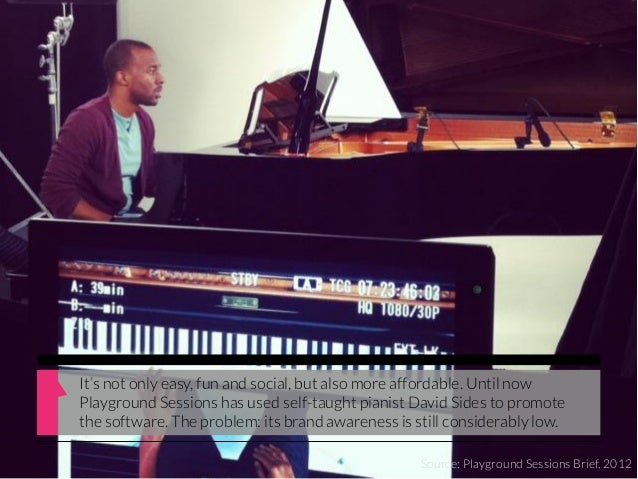 It's not only easy, fun and social, but also more affordable. Until nowPlayground Sessions has used self-taught pianist Da...