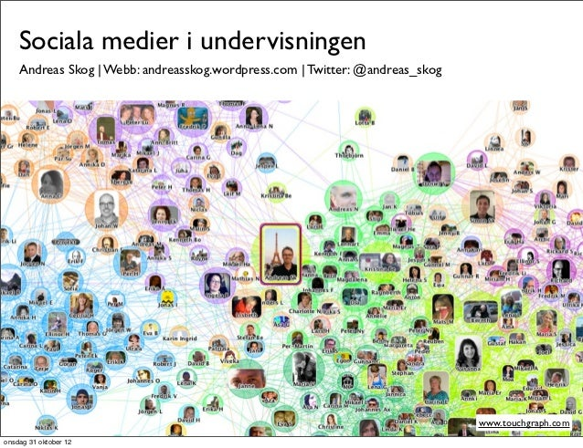 Sociala medier i undervisningen    Andreas Skog | Webb: andreasskog.wordpress.com | Twitter: @andreas_skog                ...