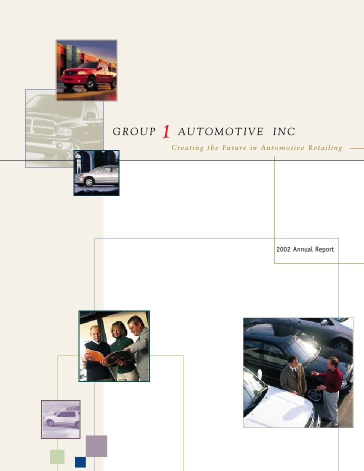 Creating the Future in Automotive Retailing                               2002 Annual Report