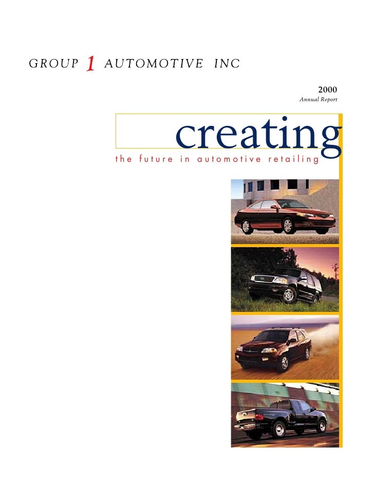 2000                               Annual Report              creating the future in automotive retailing