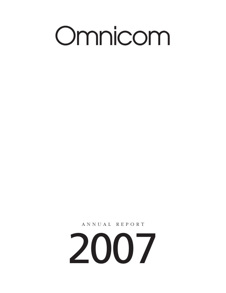 Omnicom      ANNUAL   REPORT     2007