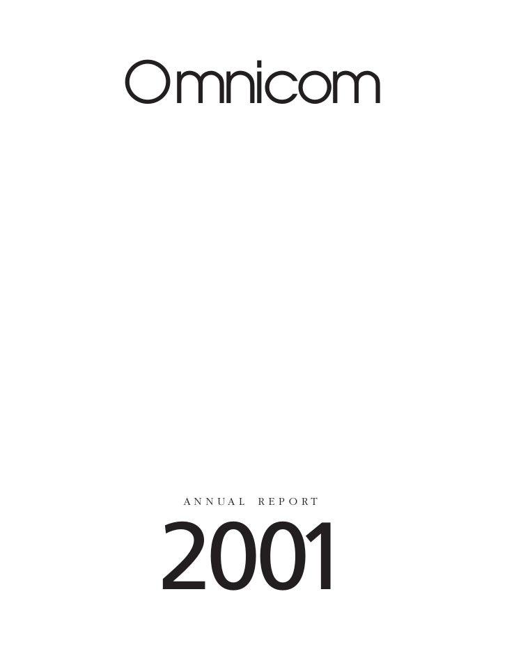 Omnicom      AN N UA L   R E P O RT     2001