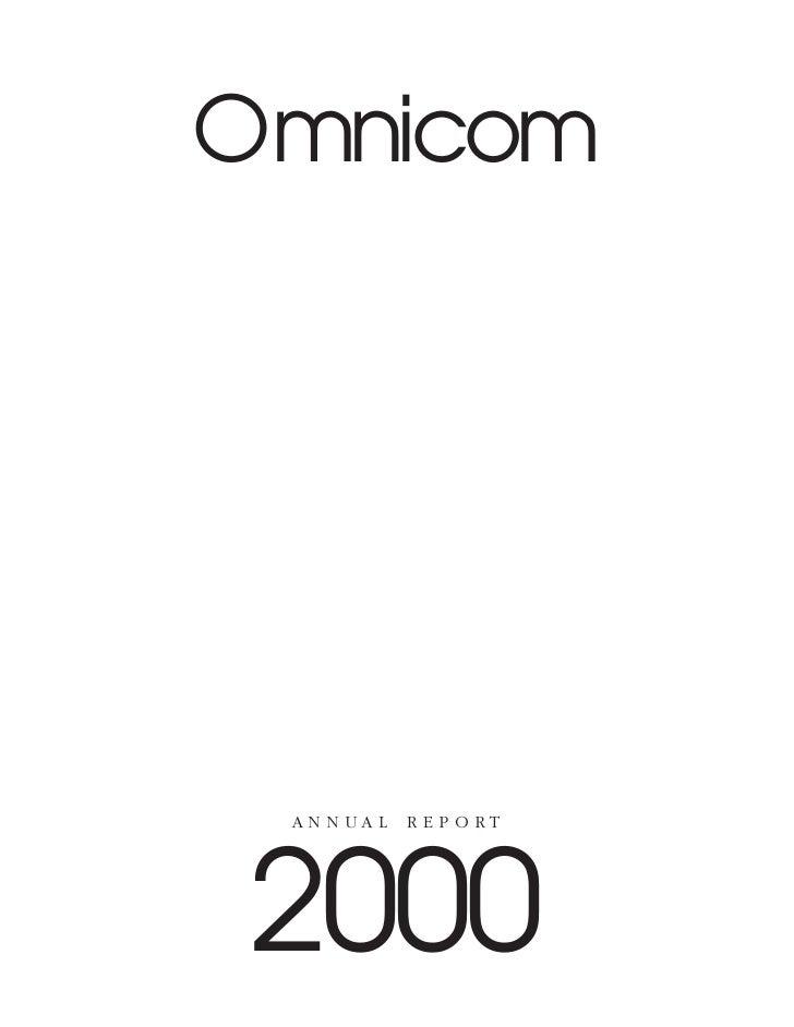 Omnicom      AN N UA L   R E P O RT     2000