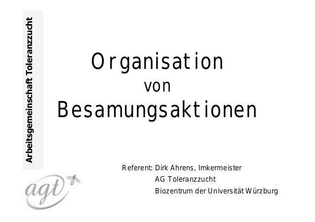 Arbeitsgemeinschaft Toleranzzucht                                      Organisation                                       ...