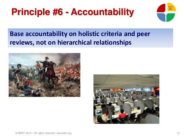 Account                                                       ablePrinciple #6 - Accountability                           ...