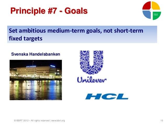 Principle #7 - Goals                                Goals &                                                    rewardsSet ...