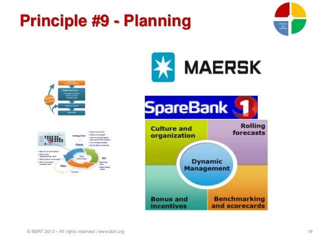 Principle #9 - Planning                             Plannin                                                      g&       ...