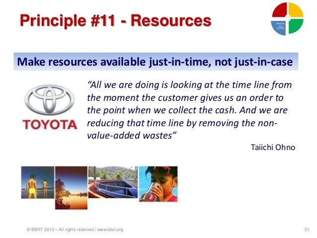 Principle #11 - Resources                                                   Plannin                                       ...