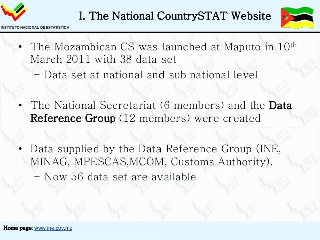 Mozambique CountrySTAT  Regional CountrySTAT Advanced Administrator Training Lusaka, 12-16 November 2012 Slide 3
